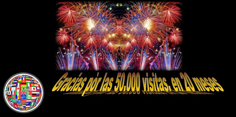 Gracias a los lectores, 50.000 visitas en 20 meses.