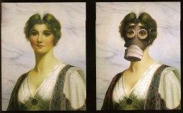 Banksy dama con mascarilla
